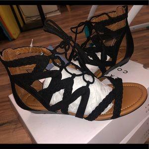 Low Heel Wedge Sandal
